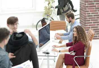 group of designers working in a modern office