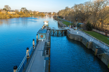 Richmond lock in the winter morning, London