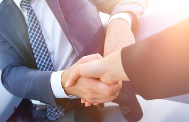 Business handshake ,congratulations or Partnership concept.