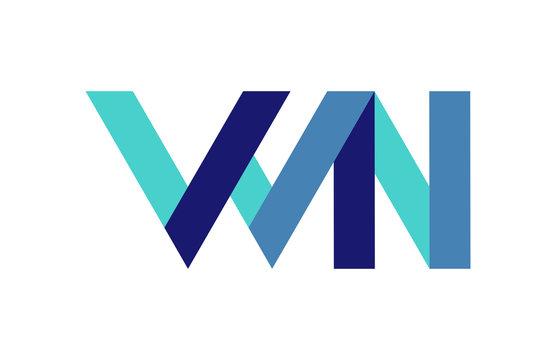 WN Ribbon Letter Logo