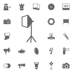 Studio softbox icon. Simple element illustration. Symbol design from Photo Camera collection. Can be used in web and mobile.