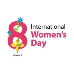 International Women's Day Vector Template Design
