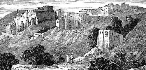 Wall Mural - victorian engraving of Bethlehem, West Bank, Palestinian Territories