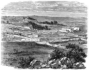 Fototapete - victorian engraving of Bethel, Maine
