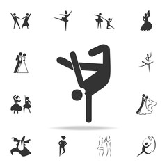 brakedance icon. Set of people in dance  element icons. Premium quality graphic design. Signs and symbols collection icon for websites, web design, mobile app