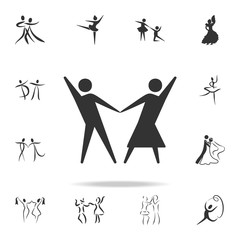 ballroom dancing icon. Set of people in dance  element icons. Premium quality graphic design. Signs and symbols collection icon for websites, web design, mobile app