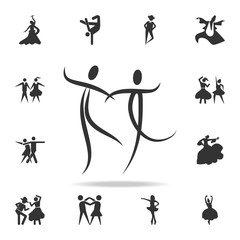 dancing couple icon. Set of people in dance  element icons. Premium quality graphic design. Signs and symbols collection icon for websites, web design, mobile app