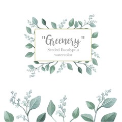 Rectangle Frame for Greenery Wedding Invitation Decoration