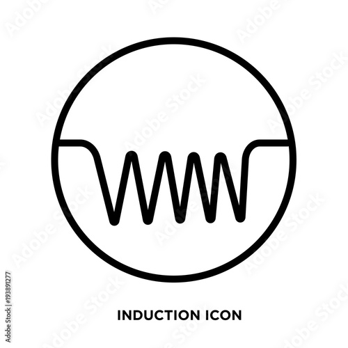 induction icon vector\