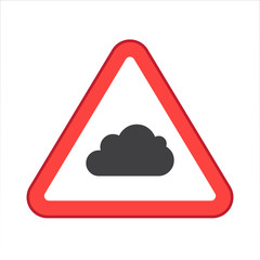 Warning/Street Sign - Cloud