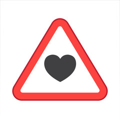 Warning/Street Sign - Heart