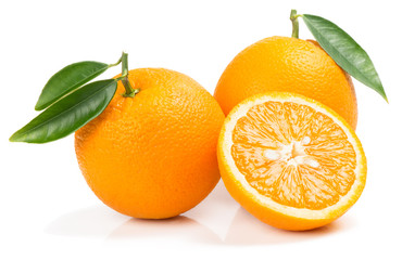 Orange fruits with slice.