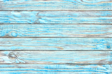 Wooden table teal paint, shabby wood surface. Old texture for antique background