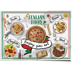 menu italian food design template graphic