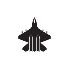 fighter icon. Element of transport view from above icon. One of the collections icon for website design and development, app development mobile concept. Premium icon