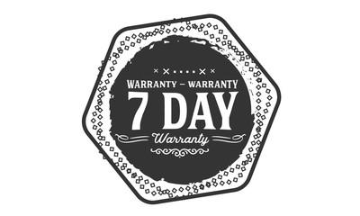 7 days warranty icon vintage rubber stamp guarantee
