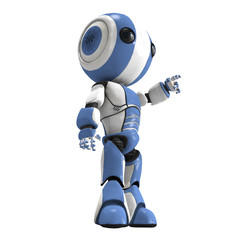 3d Robot Pointing Up