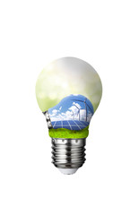 New energy and energy-saving light bulbs such as solar energy and wind energy