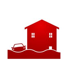 flash flood icon logo