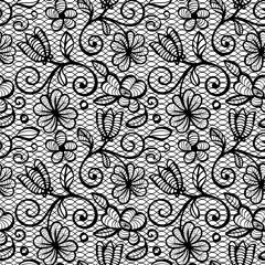 Black and white Lace Seamless Pattern