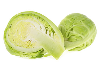 Brussels sprouts isolated on a white background