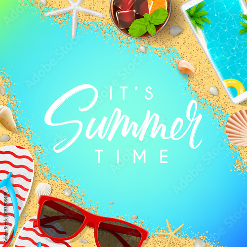 1e3b3faee98bcb Beautiful summer vacation background. Top view on red sun glasses ...