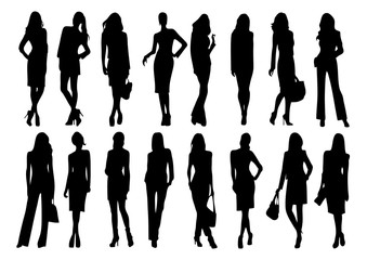 silhouette of women fashion