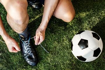 Closeup of football player
