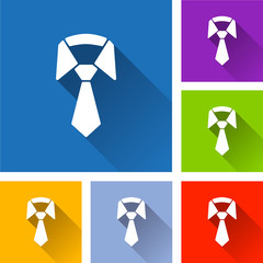 necktie icons with long shadow
