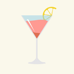 In de dag Cocktail Illustration of cocktail isolated background