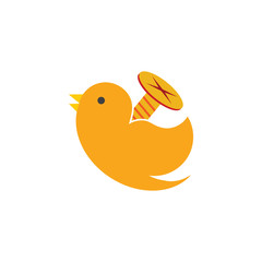 Screw Bird Logo Icon Design