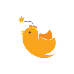 Bomb Bird Logo Icon Design
