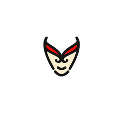 Superhero mask for face character in flat style.
