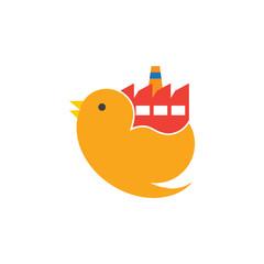 Factory Bird Logo Icon Design