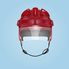 Hockey red helmet vector design eps 10 illustration