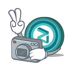 Photographer Zilliqa coin mascot cartoon