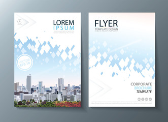 Bright future image annual report brochure, flyer design, Leaflet cover presentation abstract flat background, book cover templates.