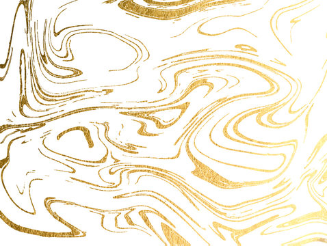 Vector marble gold background.  Marbling Texture design for poster, brochure, invitation, cover book, catalog. Vector illustration.