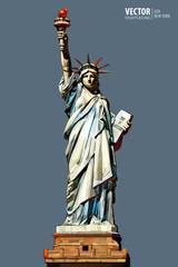 Statue of Liberty. New york city. American symbol. landmark. Vector illustration.