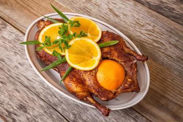 Roast duck with oranges