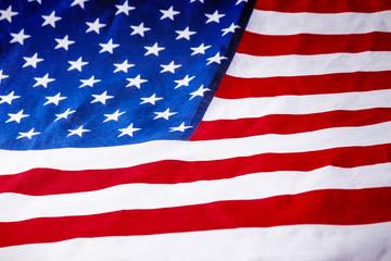 American flag laying