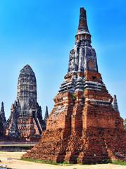 Foto auf Acrylglas Denkmal Wat Chaiwatthanaram, a Buddhist temple in Ayutthaya, Thailand
