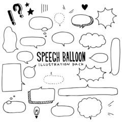 Speech Balloon Illustration Pack