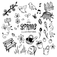 Spring Illustration Pack