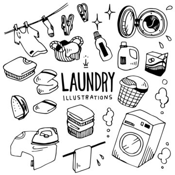 Laundry Illustration Pack