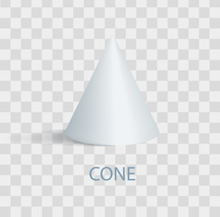Cone of White Color Poster Vector Illustration