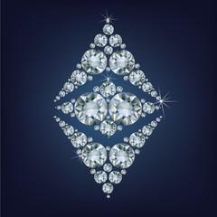 Ethereum Symbol made a lot of diamonds.