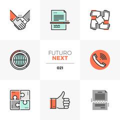 Business Agreement Futuro Next Icons