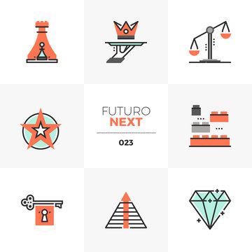Business Symbols Futuro Next Icons