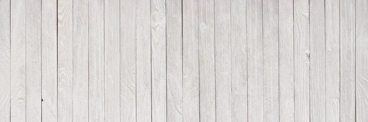 White wooden texture as a background, panorama in high resolution